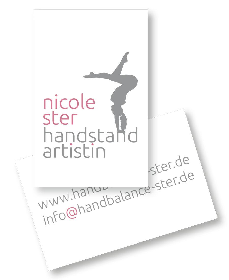 Visitenkarte für Artistin