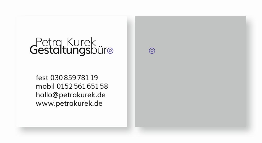 Visitenkarte für Petra Kurek