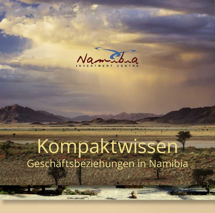 Flyer im Treppenfalz // für die Wirtschaftsabteilung der Botschaft der Republik Namibia in Berlin