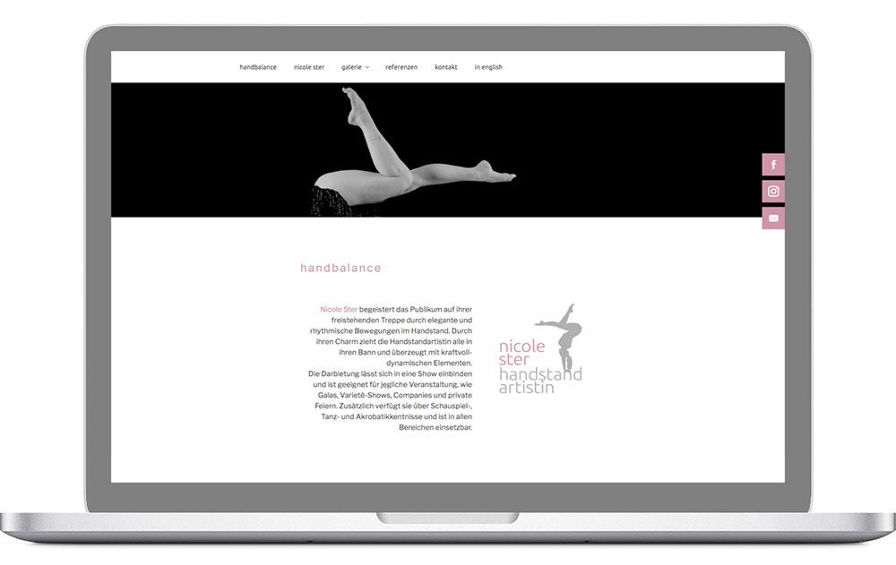 Website für Artistin aus Berlin