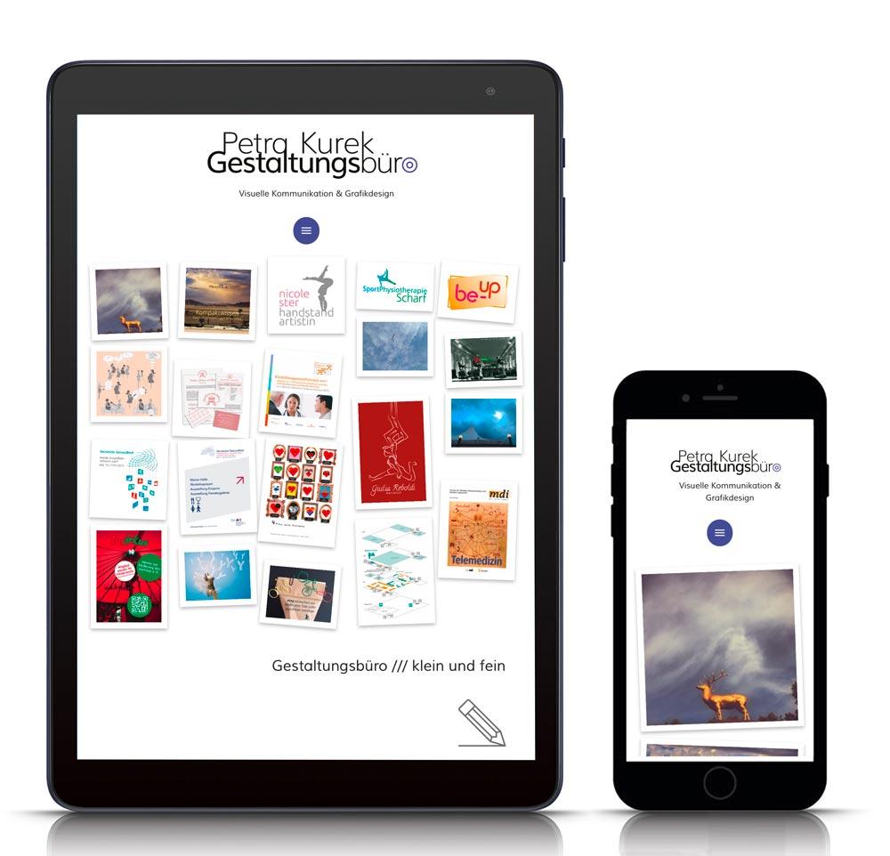 Website in WordPress für Petra Kurek GrafikDesignerin in Berlin