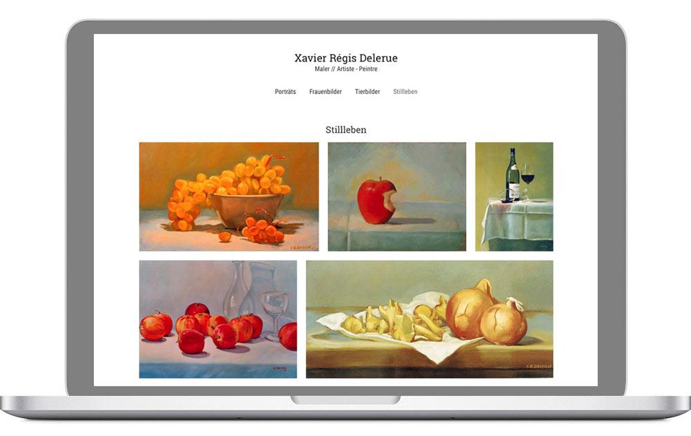 Website in WordPress für einen Kunstmaler
