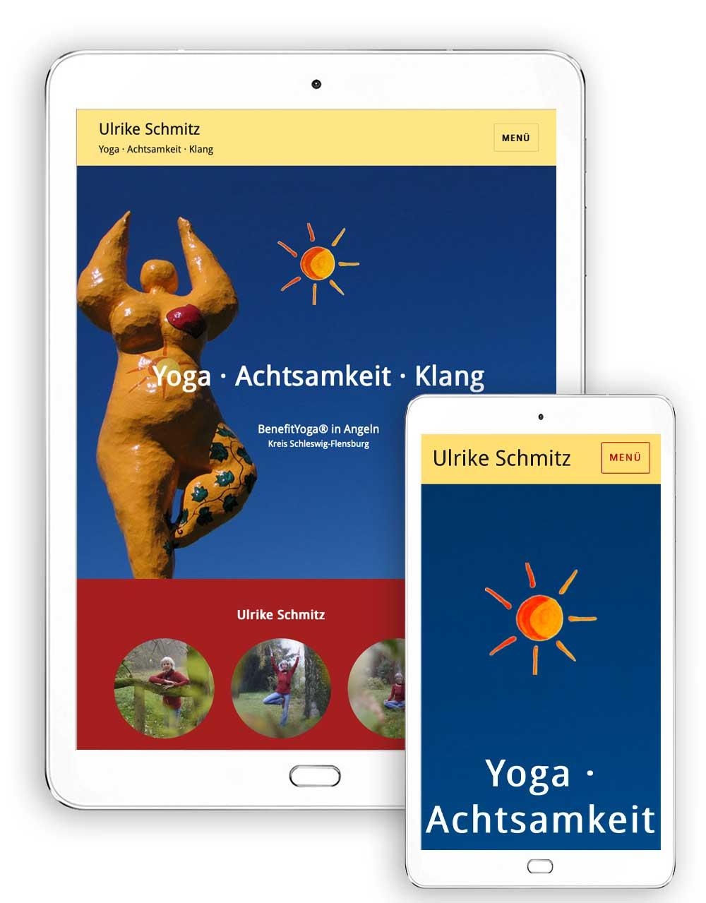 Website in WordPress für eine Yoga-Praxis