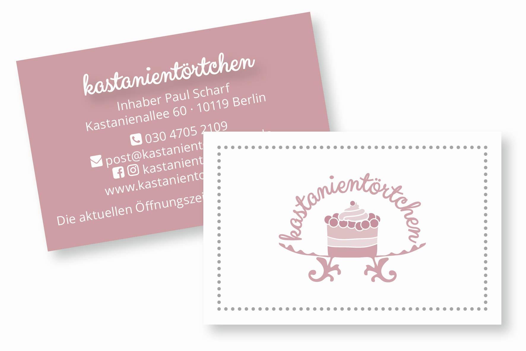 Visitenkarte für Café